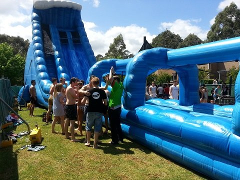 Atomic Drop Waterslide for hire Sydney