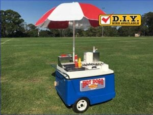 Hot Dog Cart Blue