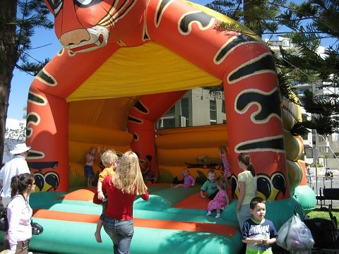 Tiger Event Jumping Castle Combo Hire Sydney
