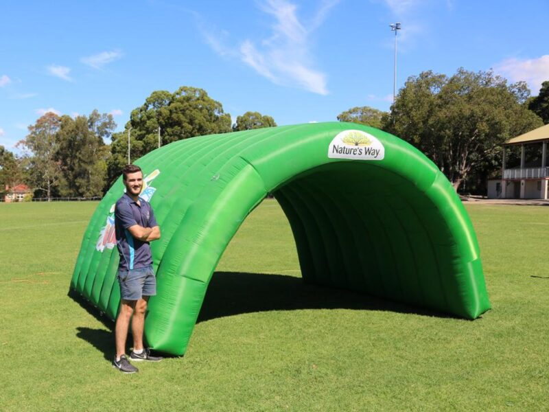 Inflatable Curved Arch