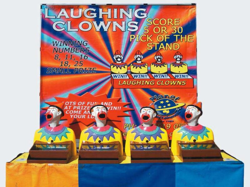 Laughing Clowns Backdrop Games